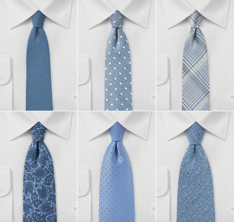 Steel Blue Wedding Neckties