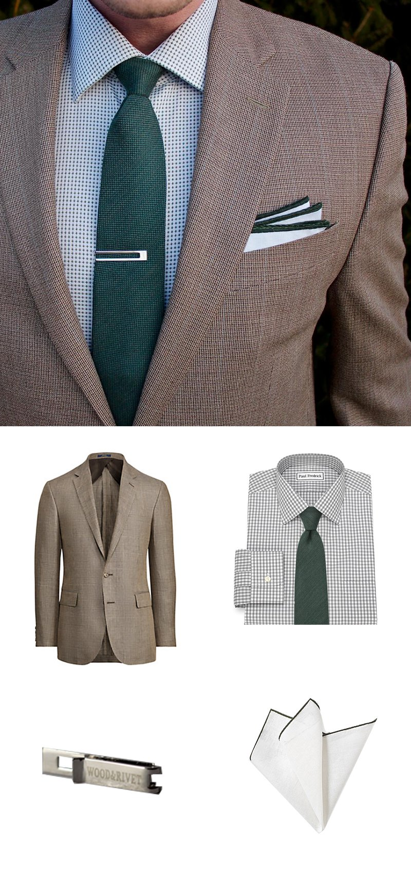 Designer Men's Fashion in Browns and Greens