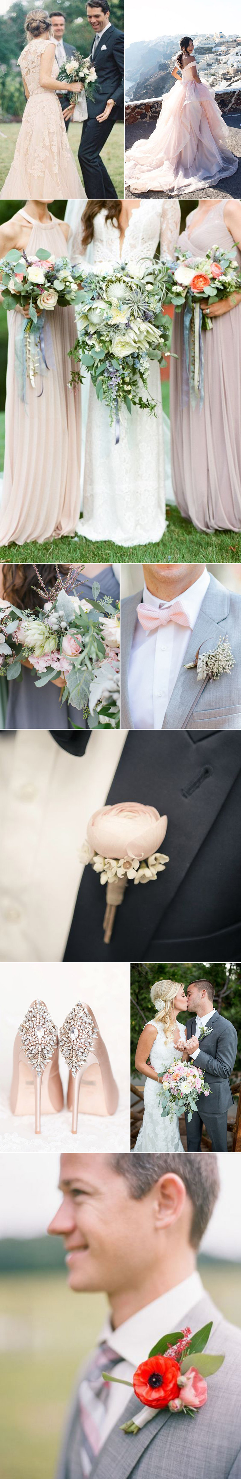 Weddings in Blush Pinks and Soft Grays