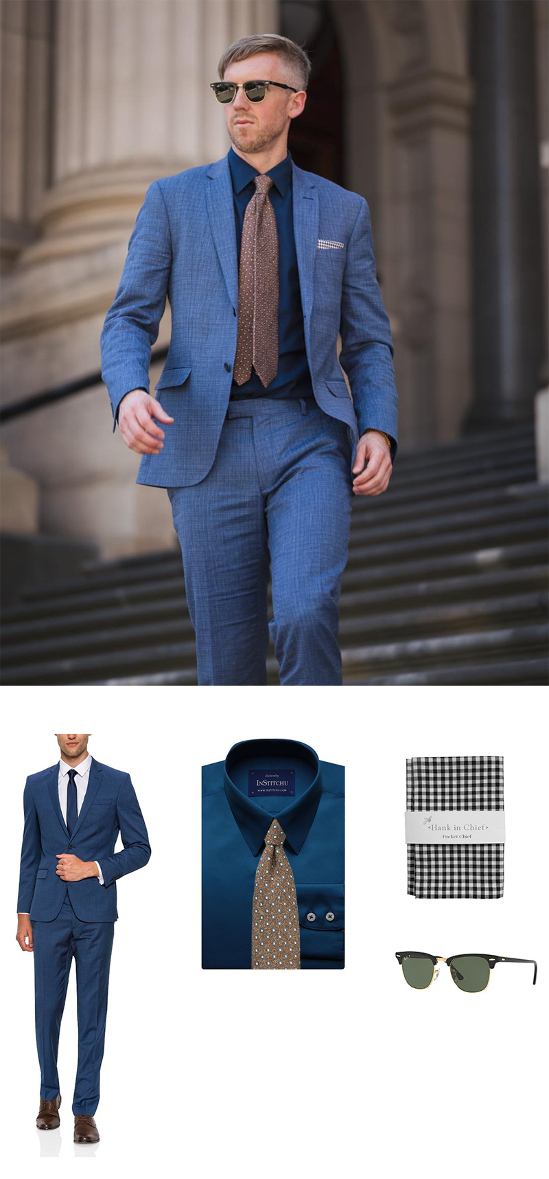 How To Accessorize A Dark Blue Dress Shirt