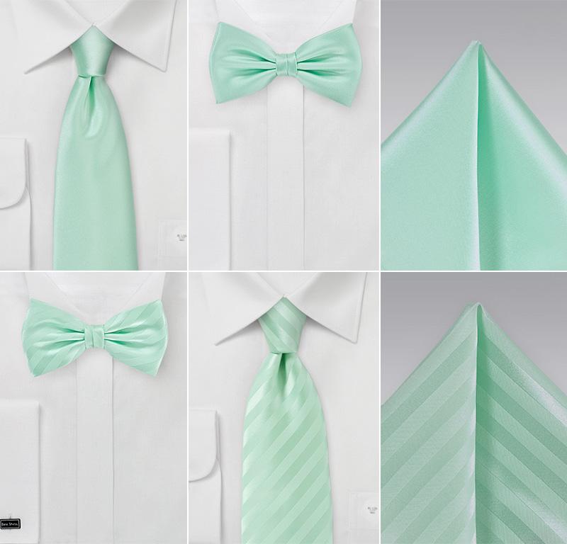 Summer Mint Wedding Accessories