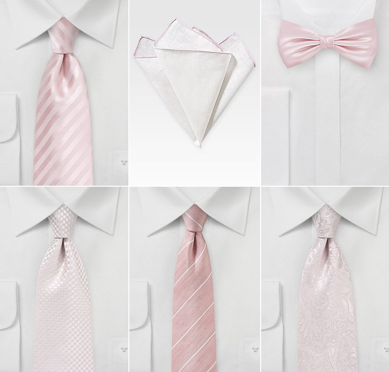 Groom Accessories in Blush