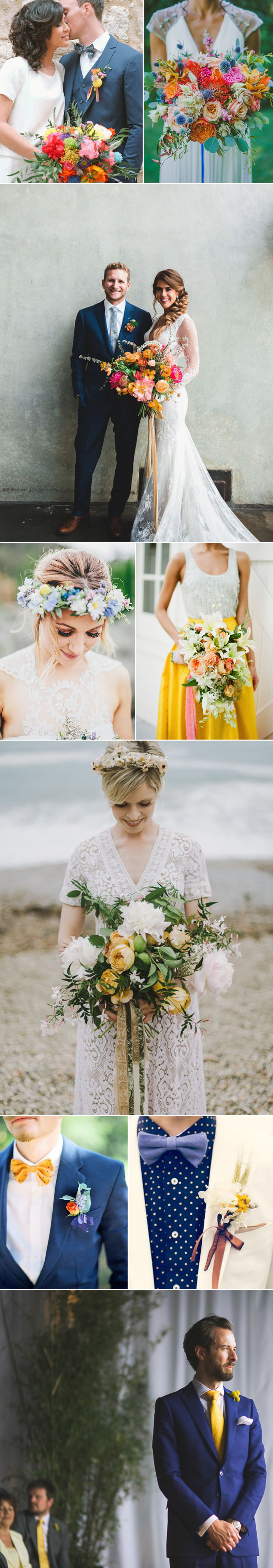 Spring Wedding Ideas in Yellows and Blues