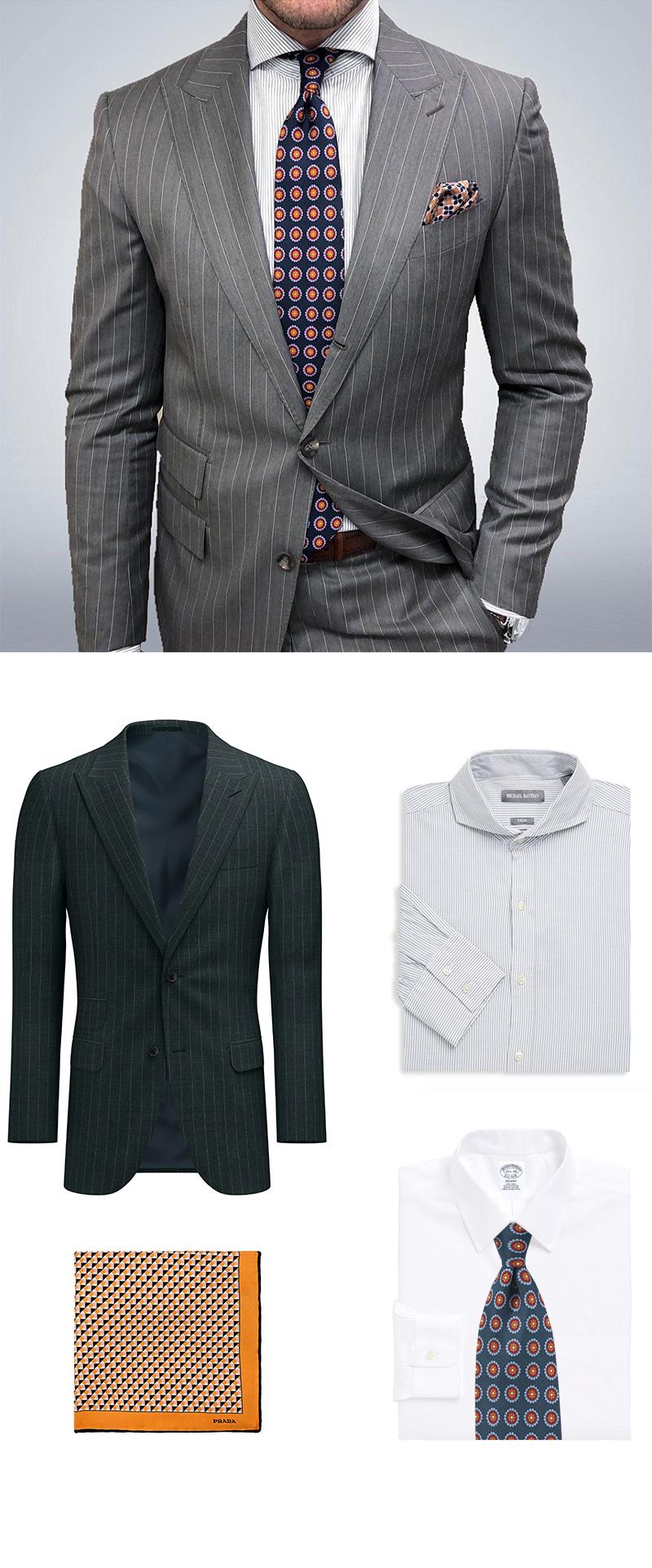 Custom Suit and Silk Accessories