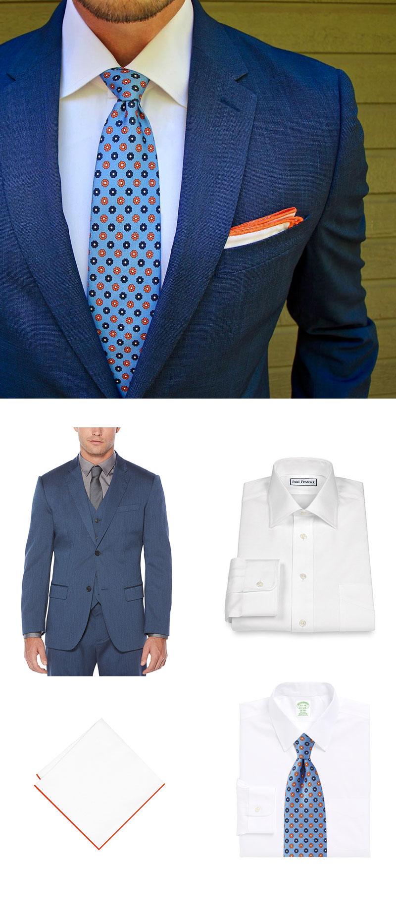 Designer Floral Necktie