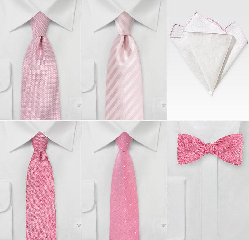Summer Pink Groomsmen Accessories