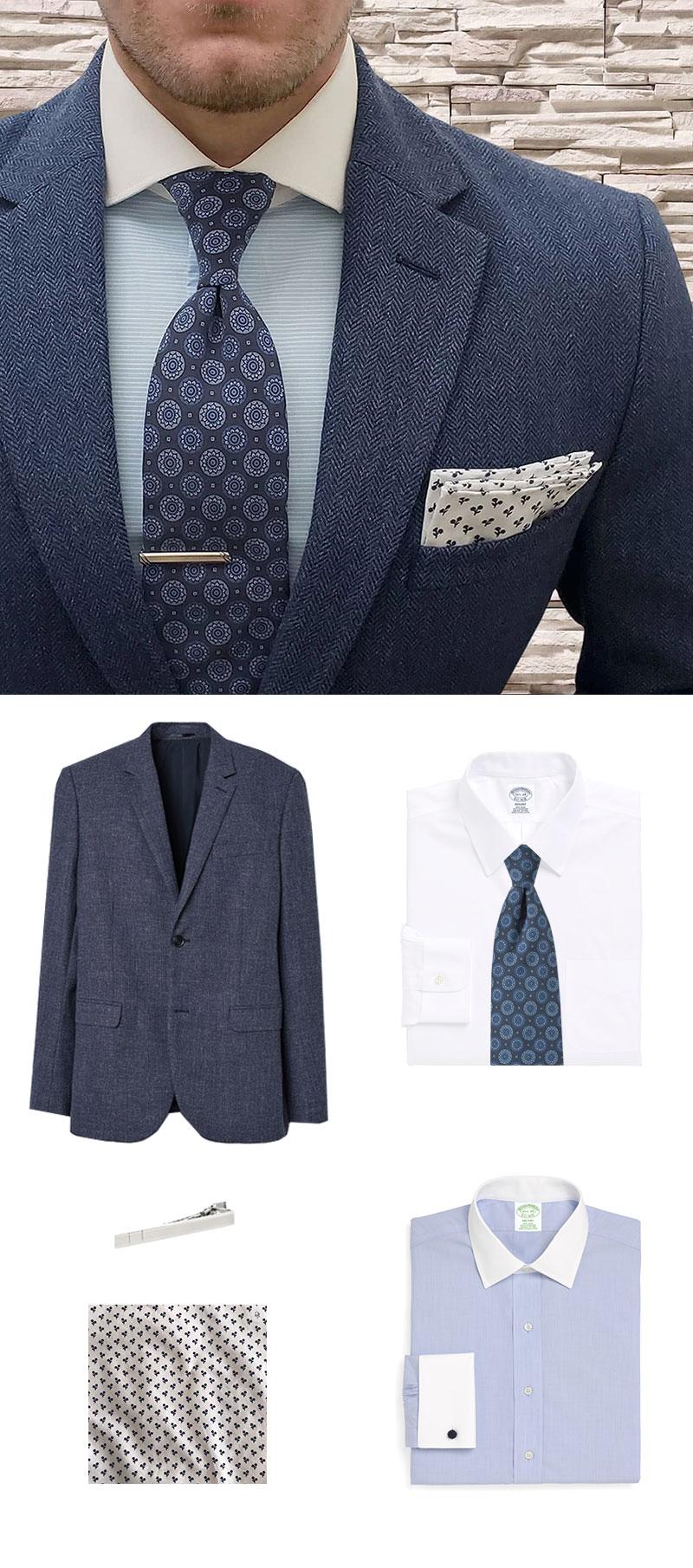Modern Menswear In Heritage Blues