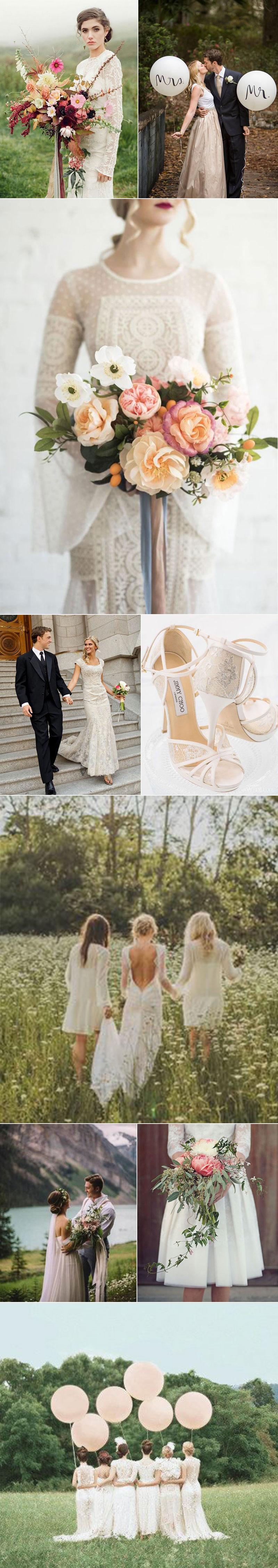 Summer Weddings in Vintage Whites