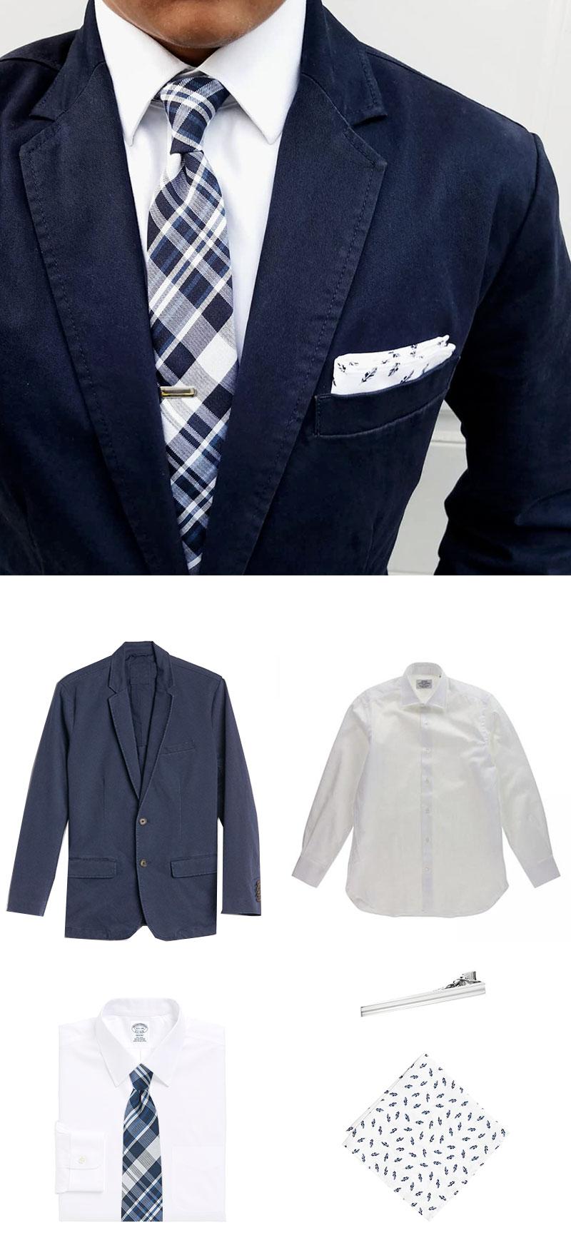 Skinny Plaid Necktie