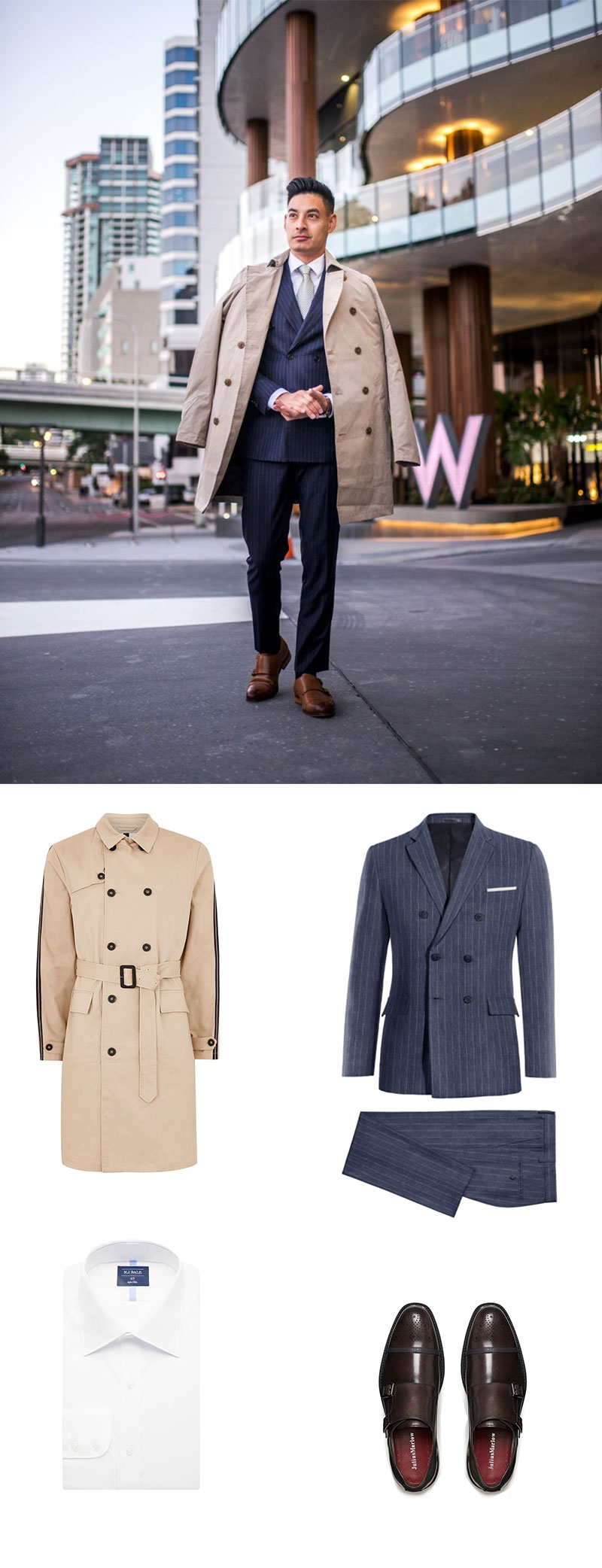 Suit and Trench Combo