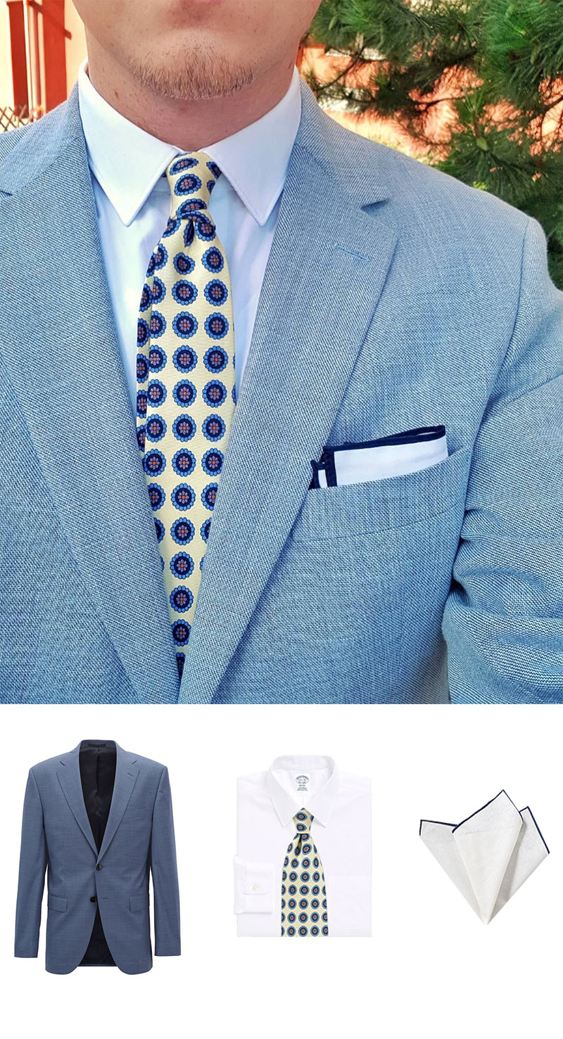 Chic Summer Suit and Tie
