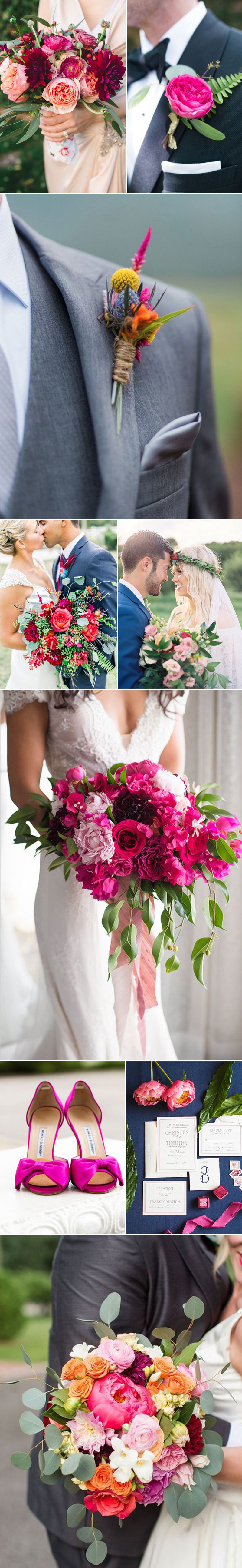 Wedding Ideas in Fuschia Pink