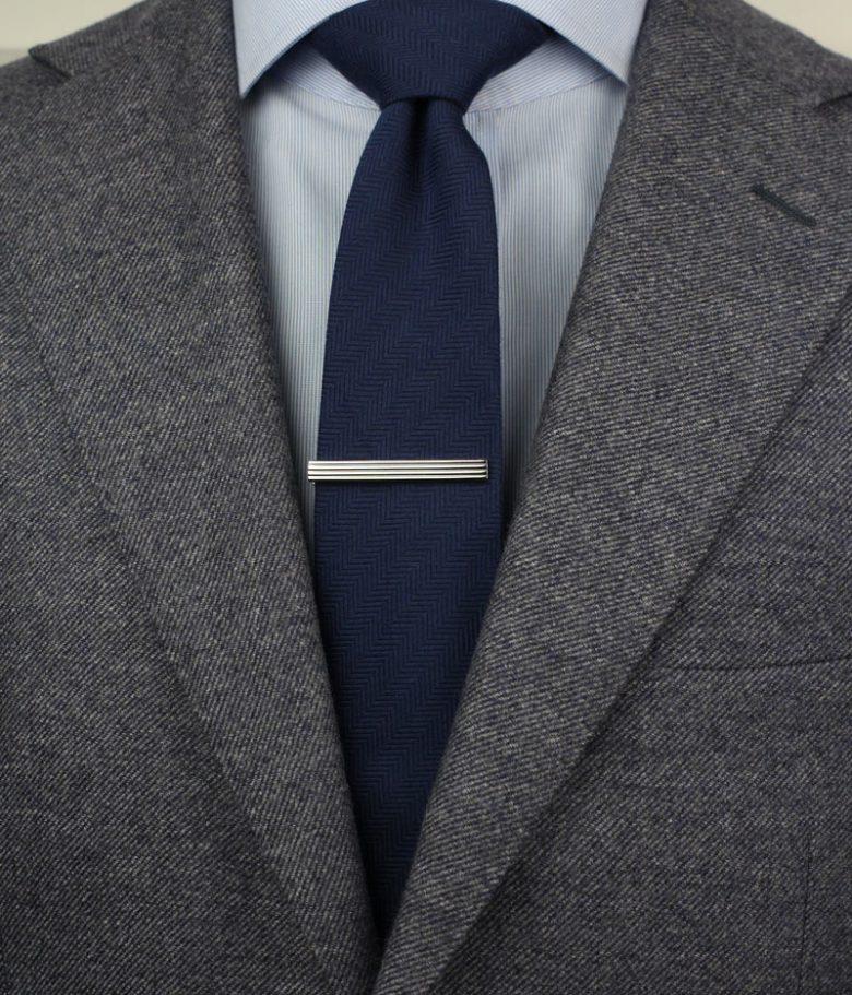 "Gun Metal Gray Men/'s Bar Collar Clip 2 1//2/"" Made in USA"