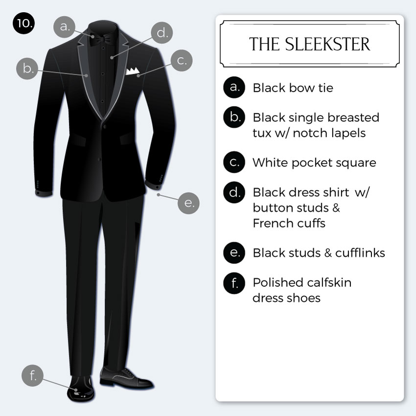 Trendy Sleek Monochromatic Black Tie