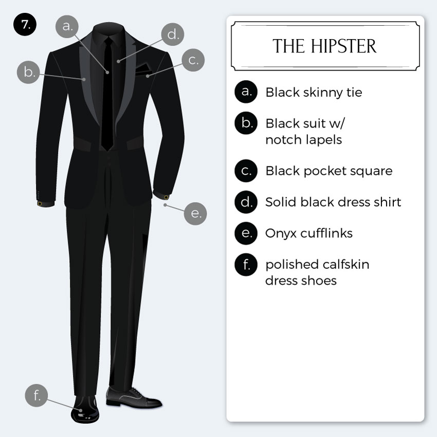 Hipster Black Tie Inspiration