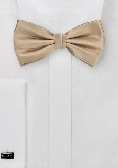 Solid Light Brown Men's Bow Tie