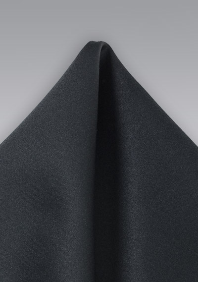 Men's Solid Black Handkerchief