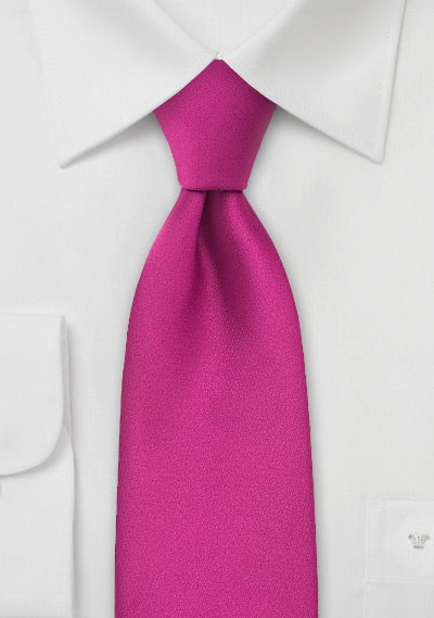 Boys Necktie in Hot Magenta-Pink