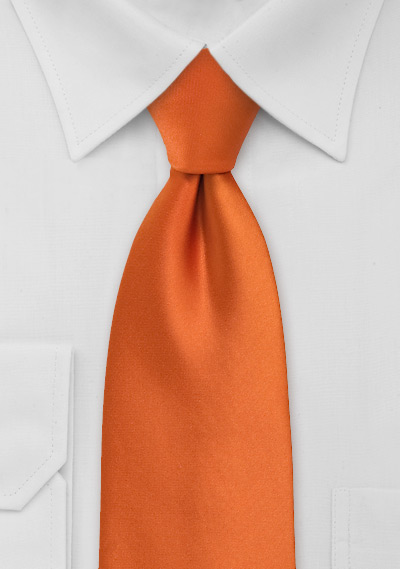 Solid Kids Tie in Persimmon Orange