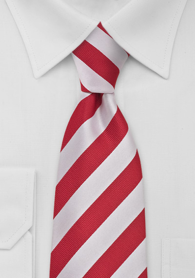 Necktie Red and White