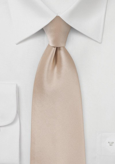 Shiny Champagne Colored Necktie