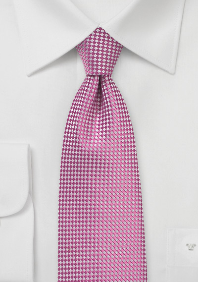 Textured Weave Tie in Honeysuckle