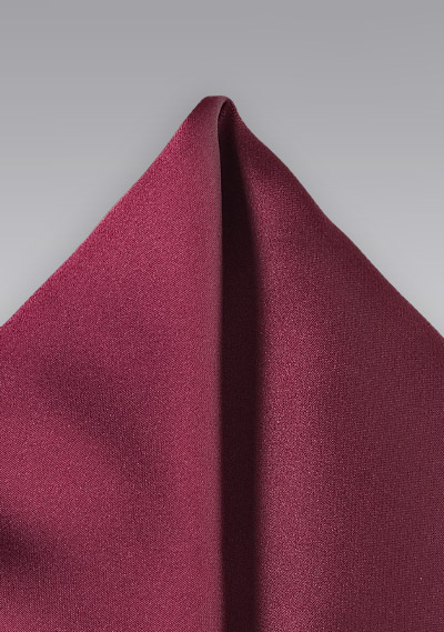 b05f6e5eecae1 Solid Color Pocket Square in Wine | Bows-N-Ties.com