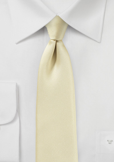 Skinny Mens Tie in Matte Cream