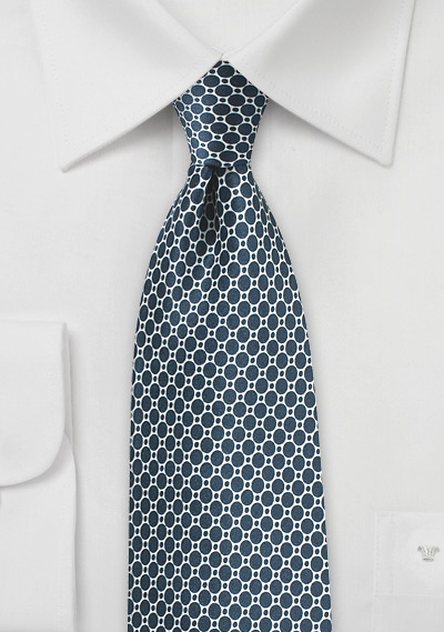 Eclipse Blue Designer Tie on Satin Silk