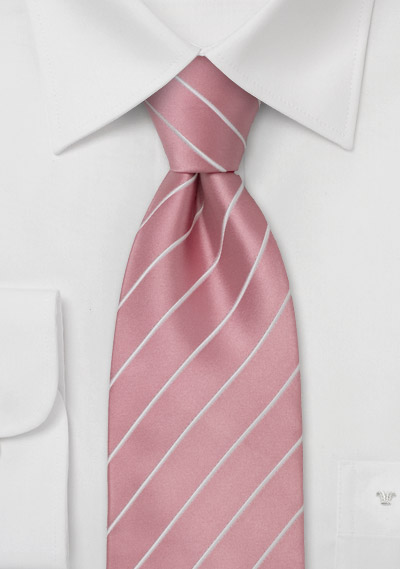 Mens Silk Tie in Cherry Blossom Pink