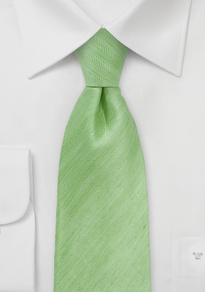 Citrus Green Herringbone Tie