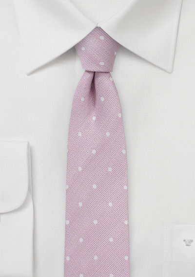 Polka Dot Tie in Cherry Blossom Pink