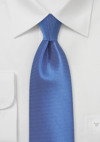 Solid Textured Necktie in Nautical Blue