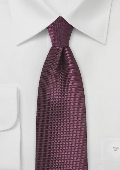 Solid Hued Tie in Classic Burgundy