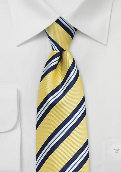 83357f78e249 Preppy Repp Striped Summer Tie in Yellow | Bows-N-Ties.com