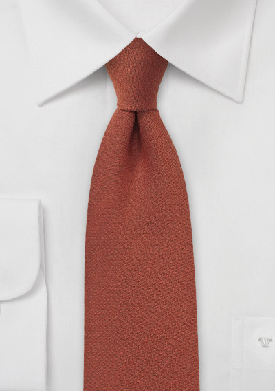 Cinnamon Spice Wool Textured Tie