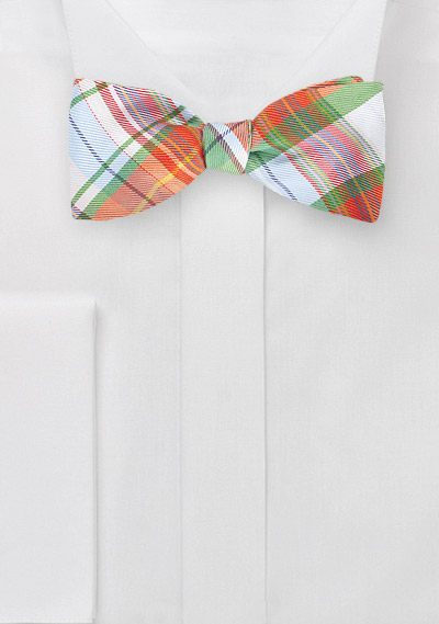 Designer Bow Tie in Oranges and Greens