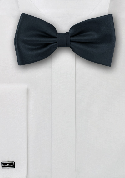 Solid Charcoal Gray Bow Tie