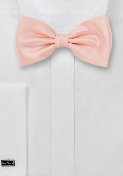 Solid Peach-Pink Bow Tie