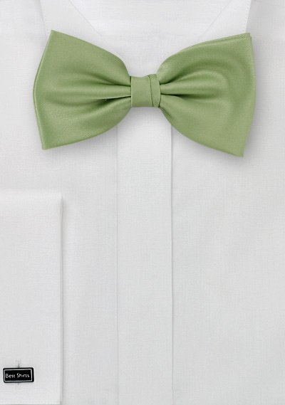 solid light clover color bow tie - Clover Color