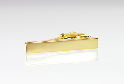 "Gold Tie Bar for Skinny Ties (1.5"" Width)"