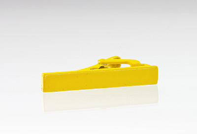 Narrow Tie Bar in Matte Yellow