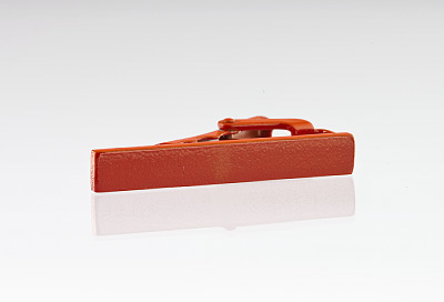"1.5"" Long Orange Tie Bar"