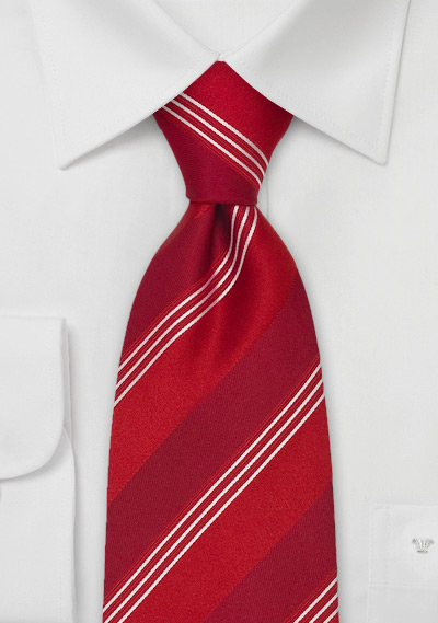 Bright Red Designer Silk Tie