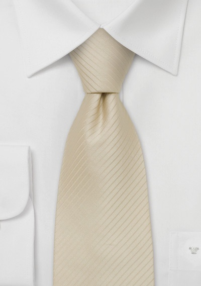 Mens Wedding Silk Tie in Oatmeal-Cream
