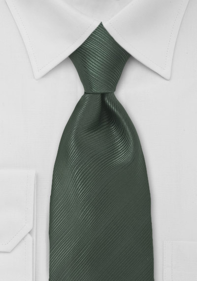 Solid Mens Tie in Dark Green