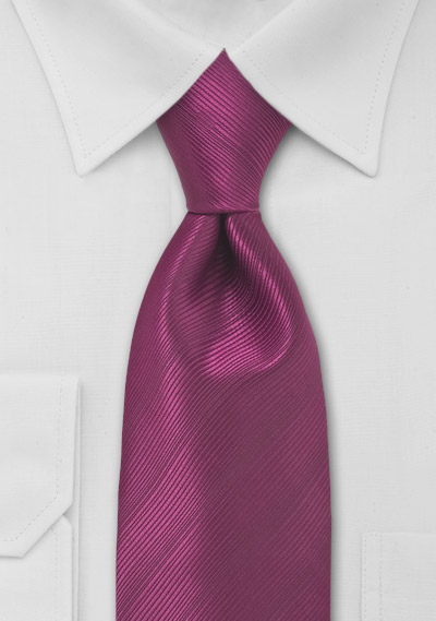 Mens Tie in Magenta Red