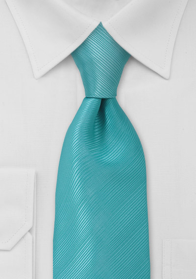 Solid Aqua Blue Mens Tie