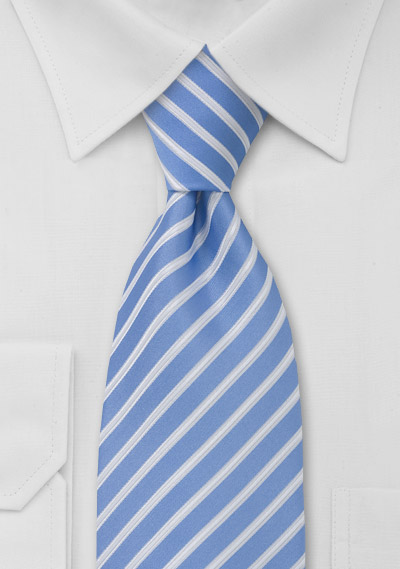 Classic Light Blue Striped Tie