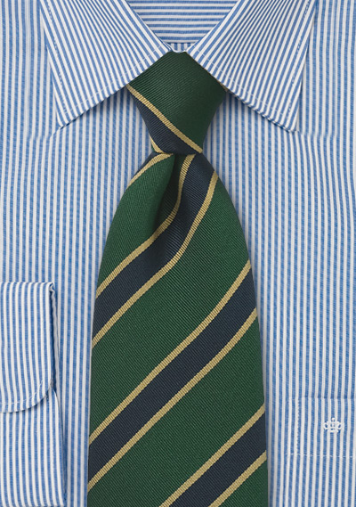 British Tie in Dark Green